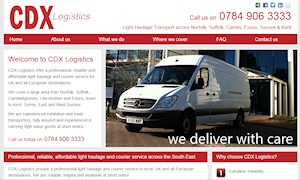 Site launch for light haulage transport company in Sussex, Surrey and Kent