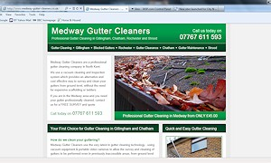 New website launch for Medway Gutter Cleaners of Gillingham and Chatham