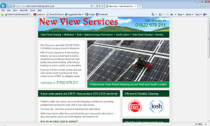 New solar panel cleaning website for Kent and South London